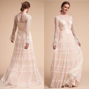 Anthropologie bhldn wedding dress